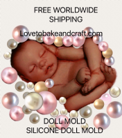 Polymer clay doll, Baby  mold, Prosculpt doll,  Free worldwide  shipping (1) (2)